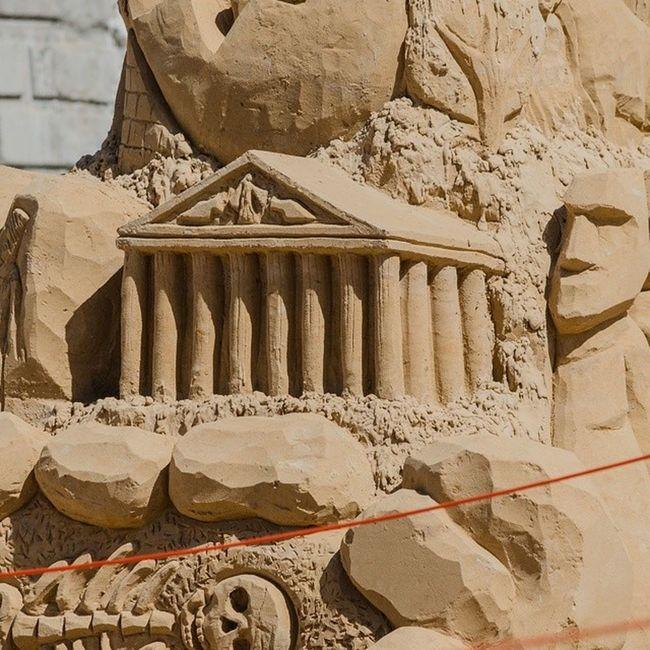 чудесасвета песчаныефигуры набережная Самара (сегодня день песчаных фигур. =)