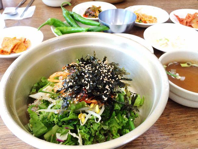 강된장 넣고 쓱쓱 비벼먹는 비빔밥 Food Korea Food
