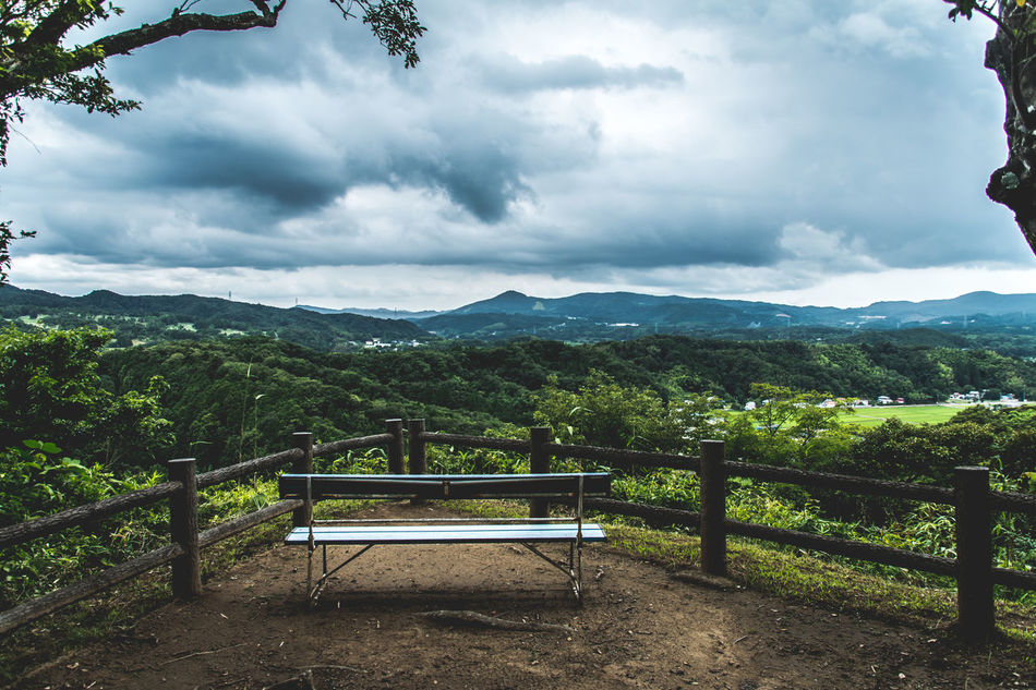 Bench Going The Distance Protecting Where We Play My Best Photo 2015 Seeing The Sights Human Vs Nature A Moment Of Zen... The Places I've Been Today Scenery Clouds And Sky Edge Of The World The Best From Holiday POV Drastic Edit Landscape Countryside Our Best Pics From The Rooftop Chair Getting Inspired The Adventure Handbook Adventures Beyond The Ultraworld The Great Outdoors - 2015 EyeEm Awards Summer Views Summer Memories 🌄 Share Your Adventure The Secret Spaces Art Is Everywhere