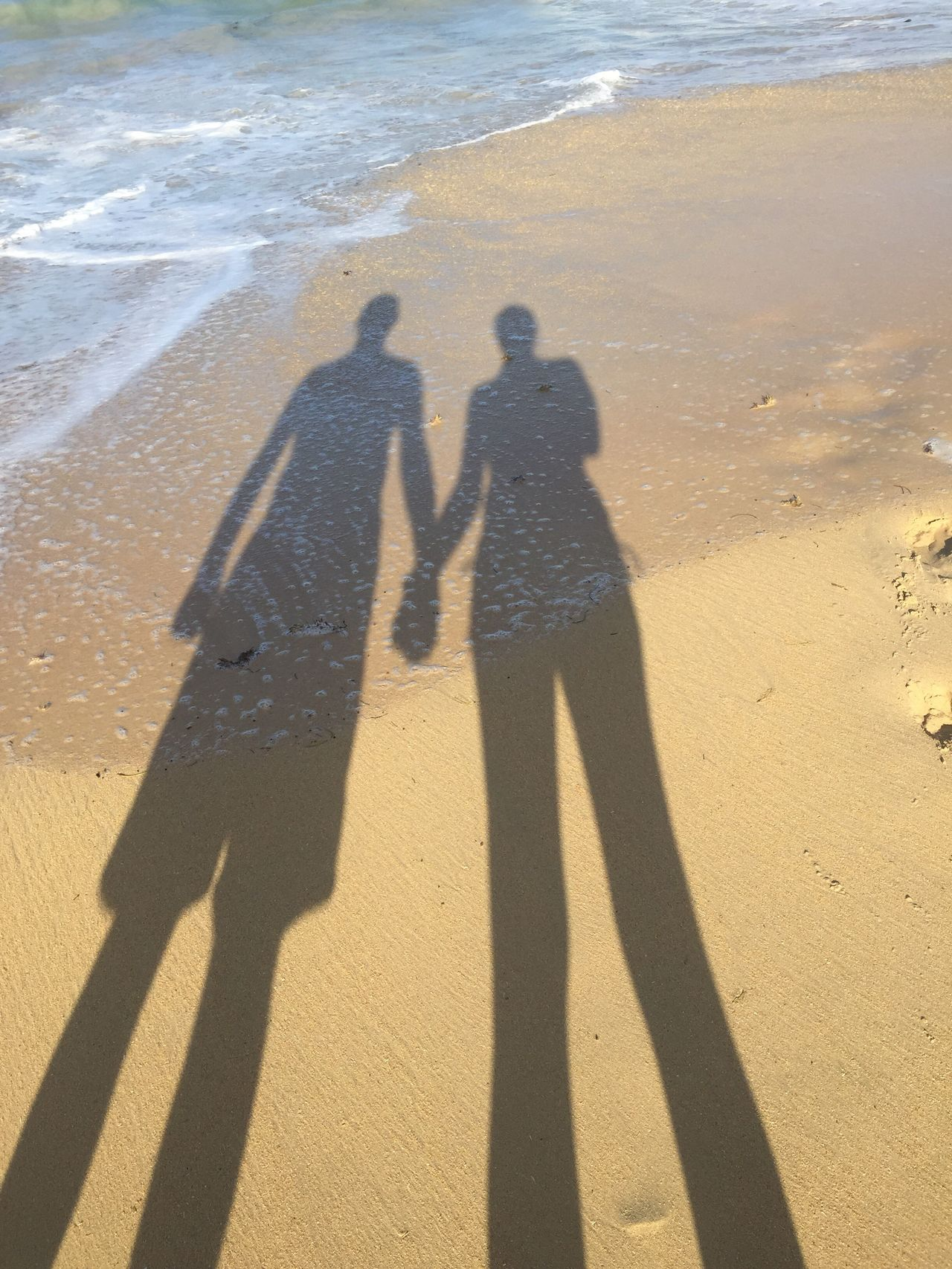 Two People Shadow Lifestyles Togetherness Sand Love Beachlife Beach Sunshine