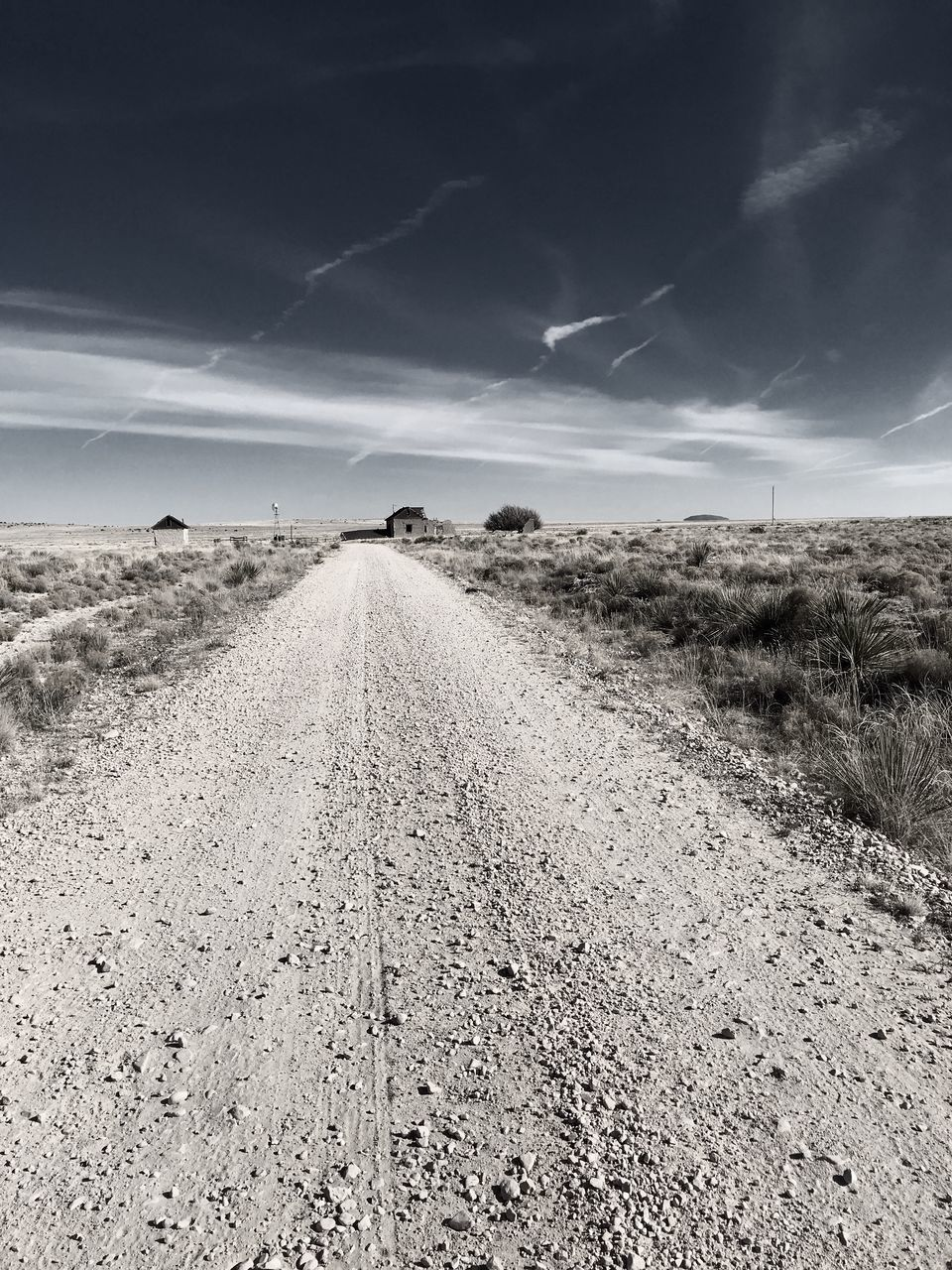 the way forward, sky, diminishing perspective, landscape, road, nature, no people, outdoors, day, field, tranquil scene, tranquility, scenics, beauty in nature