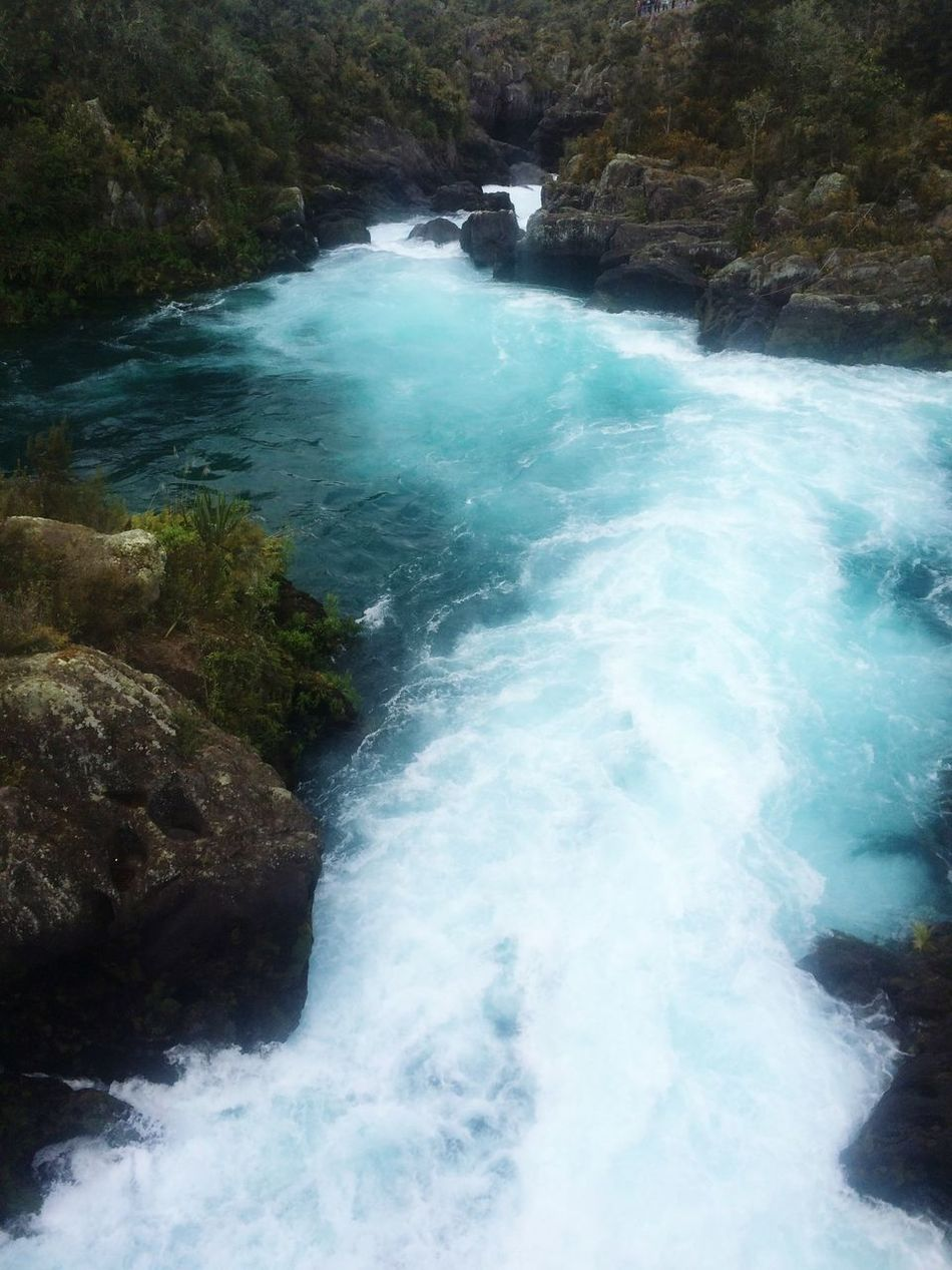 Huka Falls, NZ Damp Waterflow Rushing Water Follow4follow