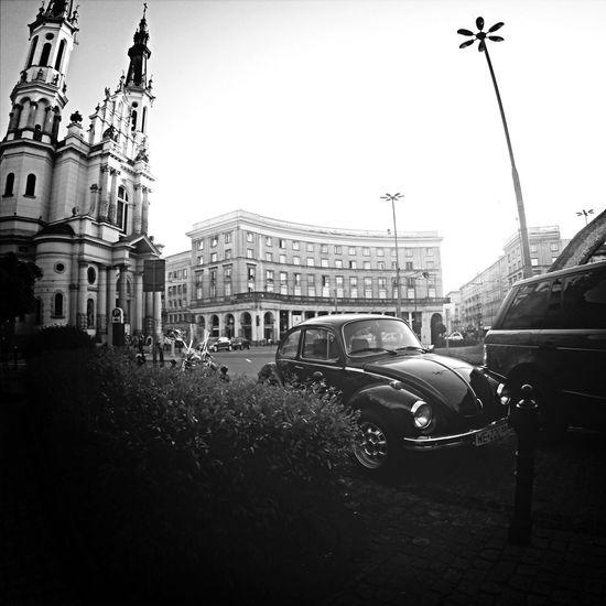 Old City Building Hello World Warszawa Poland