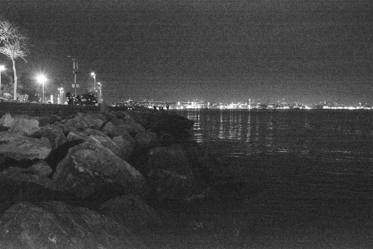Marmara Sea Night Vision Black And White Photography 2016 EyeEm Awards The Fine Art Photography Turkey Art Gallery Tourism City Night