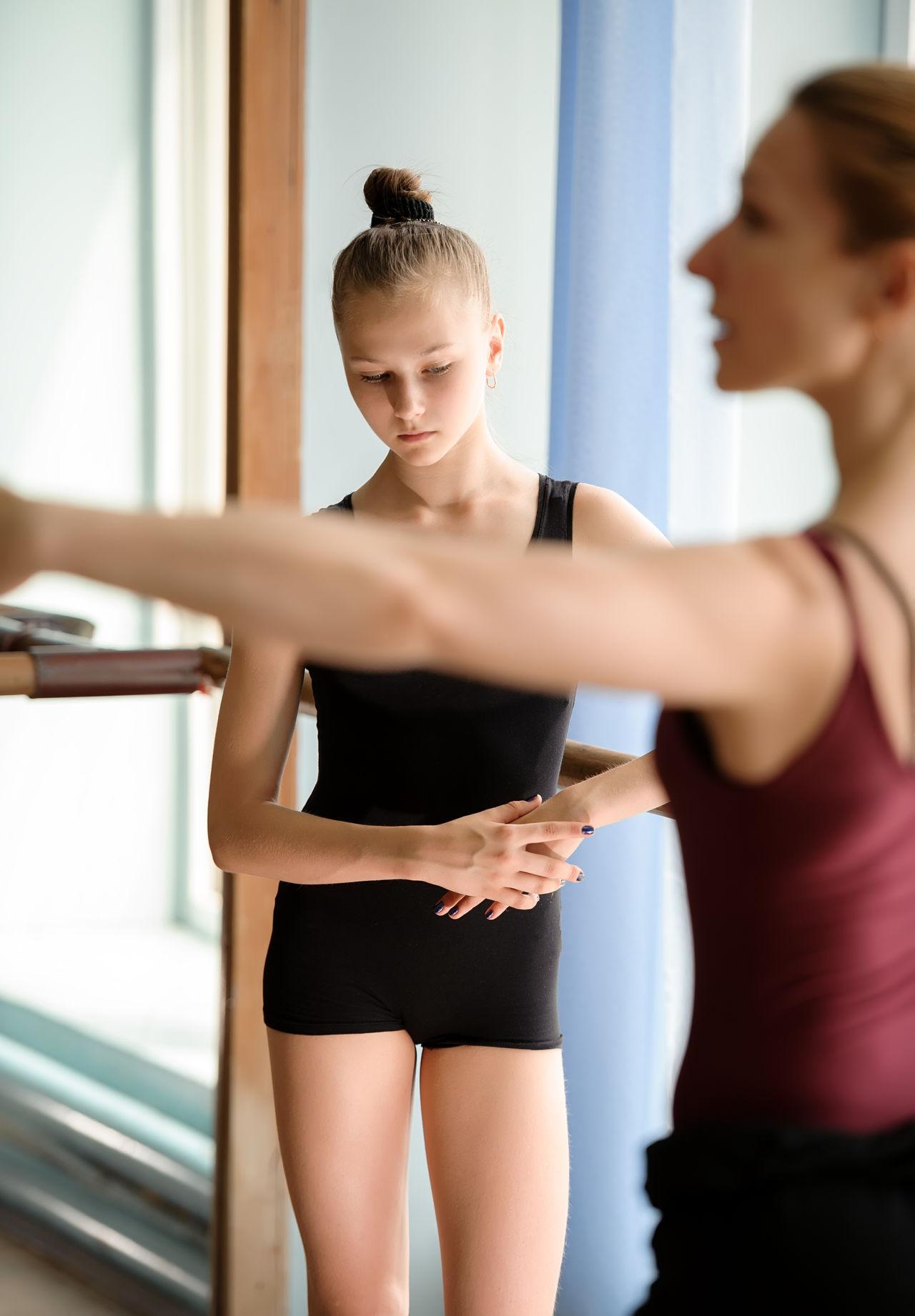Academy Ballerina Ballet Ballet-dancer Barre Caucasian Dance-hall Dancer Fashion Girl Practice School Studio Teacher Women Young Women