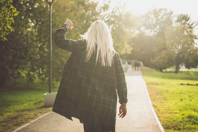 Adult Adults Only Beauty In Nature Blond Hair Day Grass Happiness Long Hair Nature One Person One Woman Only One Young Woman Only Only Women Outdoors People Real People Tree Young Adult Young Women