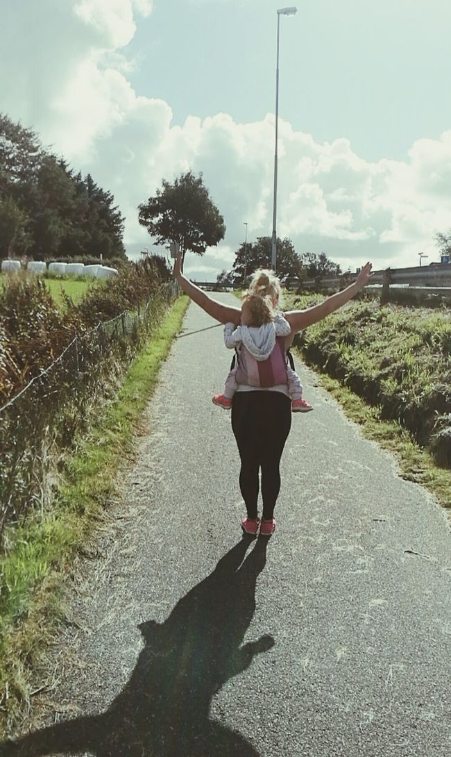 I carry you with love💜 Rear View Shadow Country Road Baby Girl Babycarry Mother & Daughter Motherlove Casual Clothing Outdoors Southwest  Norway Randaberg Cloud - Sky Young Adult Walking Sky Sunlight Tree Sunny Day Plant Cloud Full Length The Way Forward