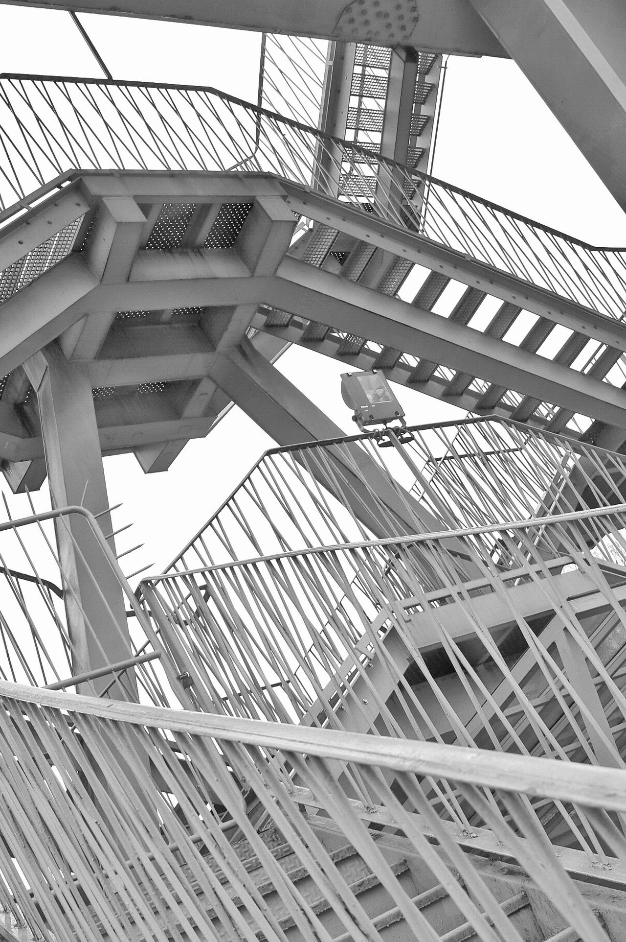 Architecture Low Angle View Built Structure Architecture Photography Staircase Stairways Stairs_collection Stairway To Heaven Stairway Mesh Mesh, Nets, Collection, Material, Textile, Fabric, Steel Structure