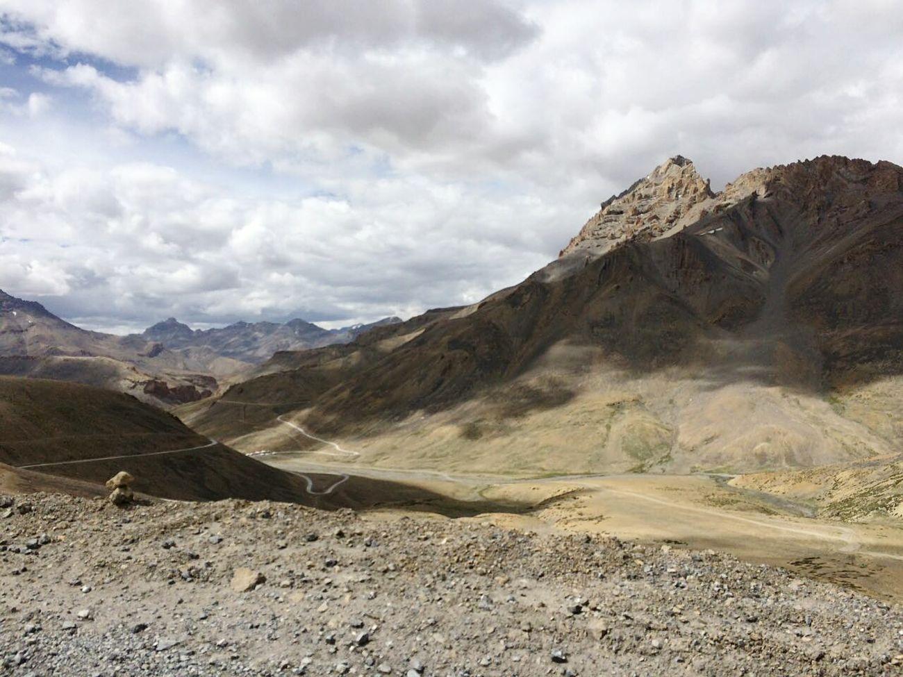 Mountain Tranquil Scene Landscape Scenics Tranquility Physical Geography Mountain Range Transportation Rock Formation Remote Travel Destinations Cloud - Sky Rocky Leh Ladakh.. Heaven♥ Tourism @ranjhan