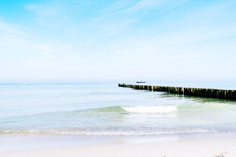 Silence Sea Water Horizon Over Water Beauty In Nature Tranquil Scene Scenics Beach Nature Tranquility Sky Day Outdoors No People Sand Wave EyeEmNewHere Travel Destinations Baltic Sea Kühlungsborn Mecklenburg-Vorpommern