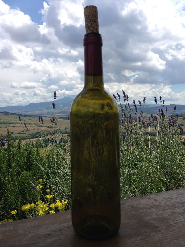 Perfect summer day in Tuscany Beauty In Nature Cloud - Sky Cloudy Day Landscape No People Outdoors Scenics Sky Tranquil Scene Tuscany Winebottle Winebotttle