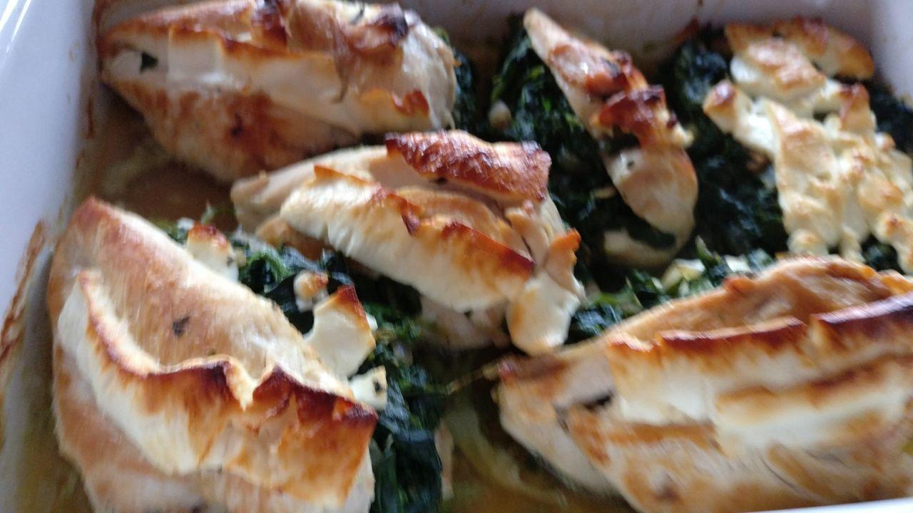 Foodporn Chicken Spinach Feta Healthy Food