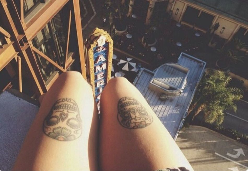 My Unique Style Leg Tattoo Rooftop Americana Myuniquestyle Photography Coffeeshop