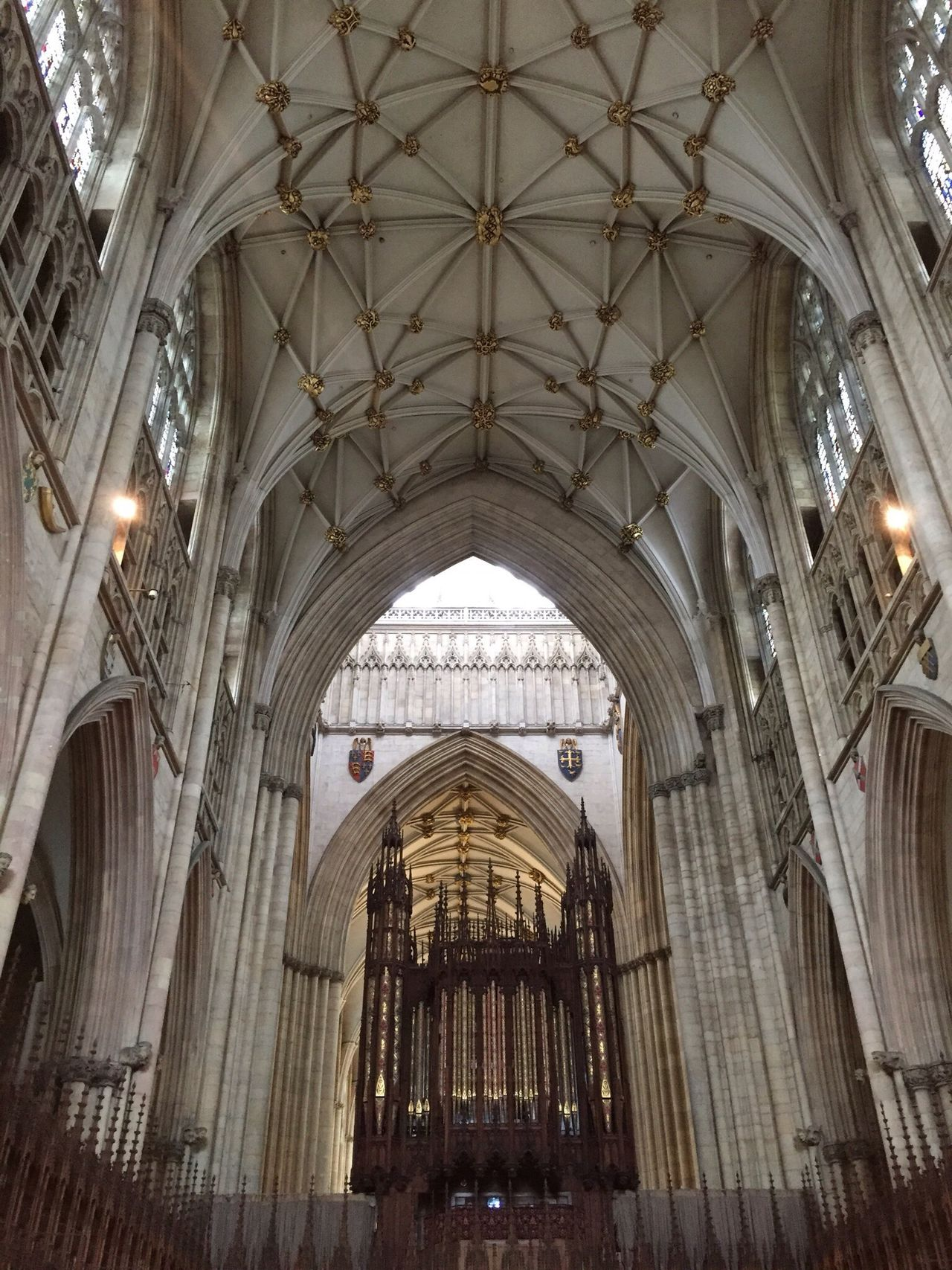 Look up Architecture Place Of Worship Arch Indoors  Religion Built Structure Ceiling No People Hanging History Day York Place Of Worship Outdoors Historical Building