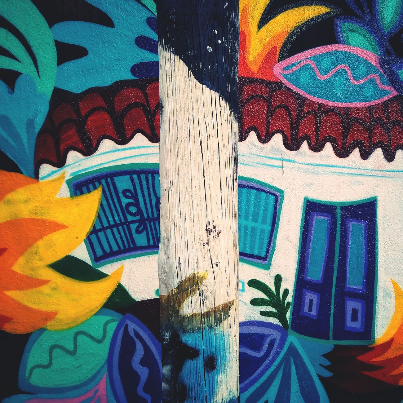 Building Exterior Aquaris Barcelona Mural Art Multi Colored