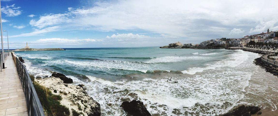 Waterfront Vieste Puglia Sky Beauty In Nature