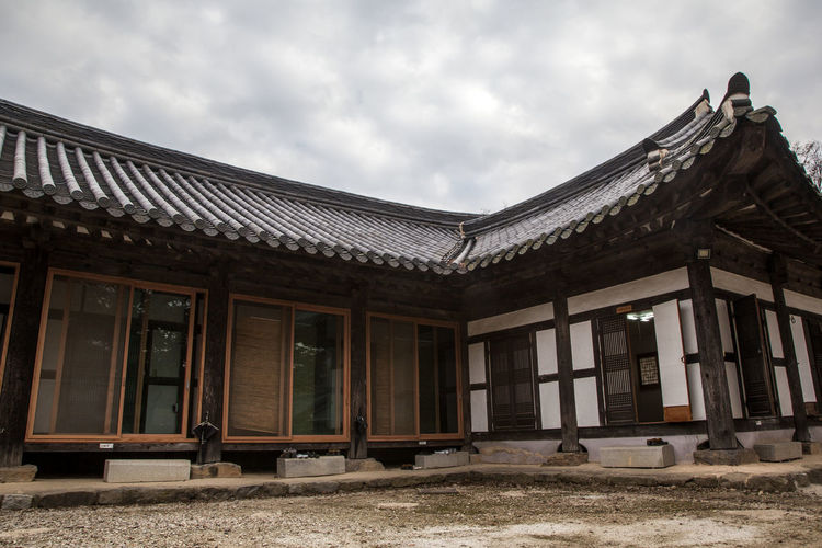 autumn scene of Seonunsa, a Buddhism Temple in Gochang, Jeonbuk, South Korea Architecture Autumn Buddhism Building Exterior Built Structure Cloud - Sky Day Low Angle View No People Outdoors Religion Seonunsa Sky Sprituality Temple