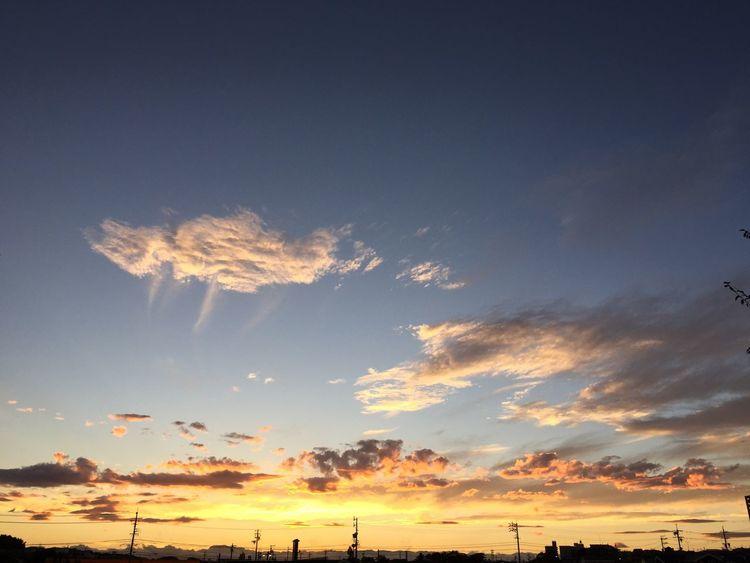 沈んじゃった 夕焼け Sunset 空 Sky 雲 Clouds