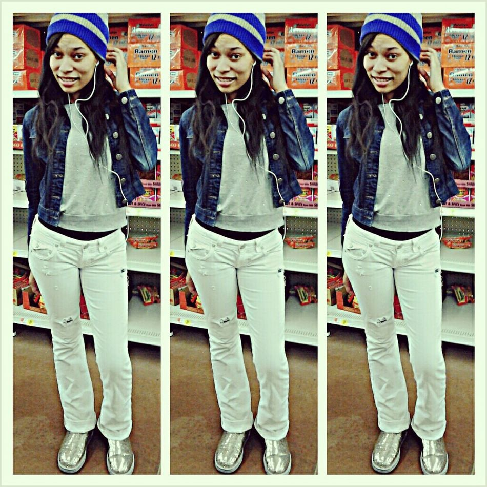 in Wal-Mart with it