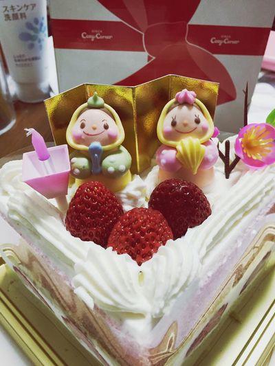 こもかめら Happy Cake ひなまつり かわいいおいしそうなケーキ🎂♥