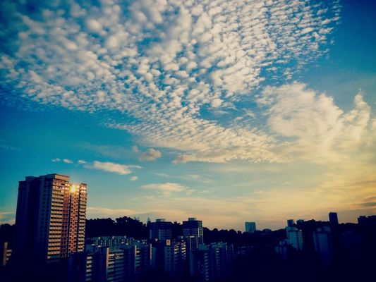 sky in Singapore by eXindefinable