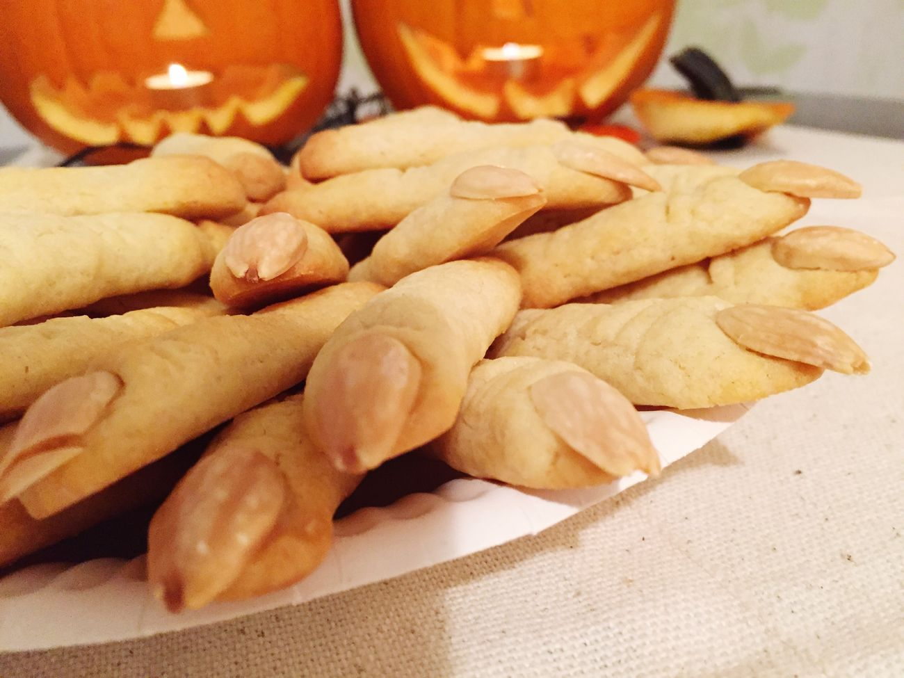 Baking Baking Cookies Witches Fingers Halloween Pumpkins Dynia