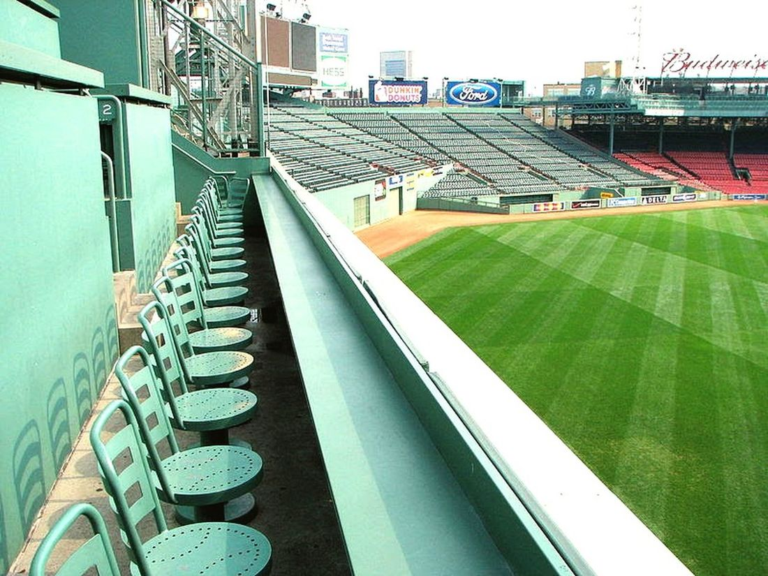 Greenmonster Boston Redsoxnation Redsox Outdoors No People Day City Architecture Fenway Park