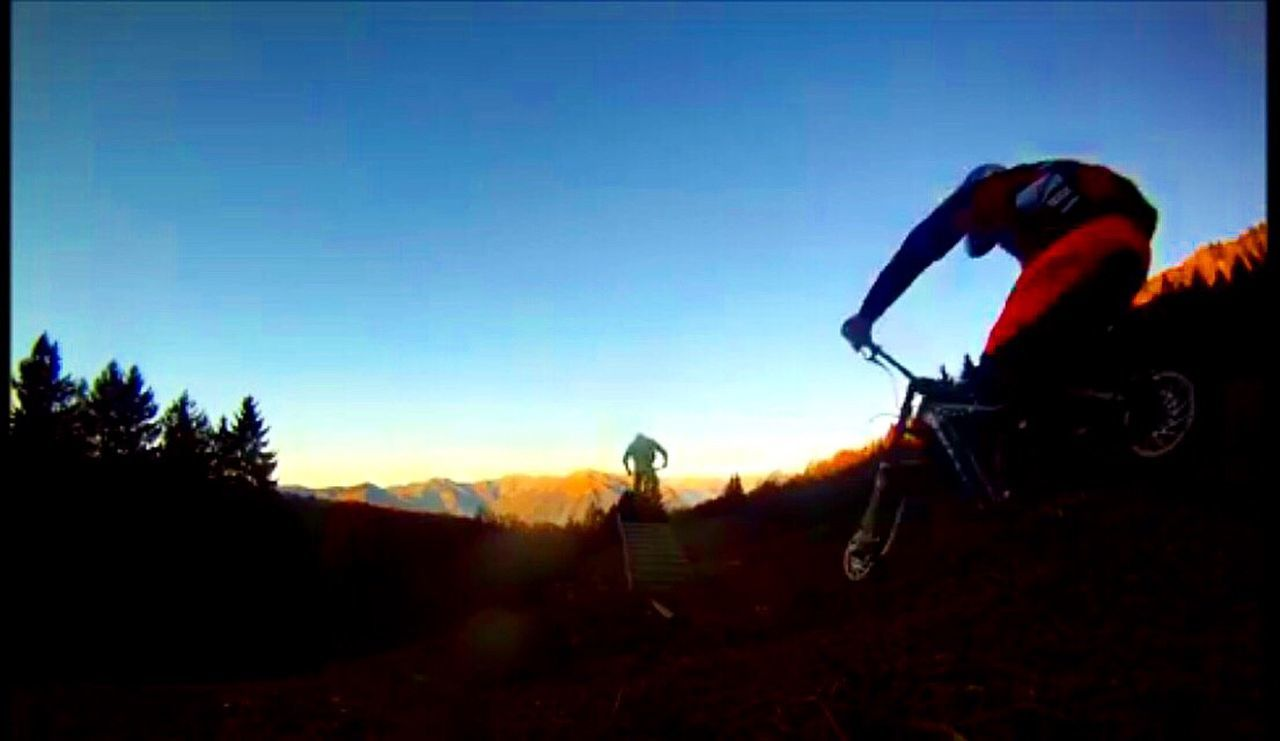 Having some fun 🌿🚲 Gopro Sport Fun Bike Downhill Mountains Nature Sunset Sky Wildlife Wood
