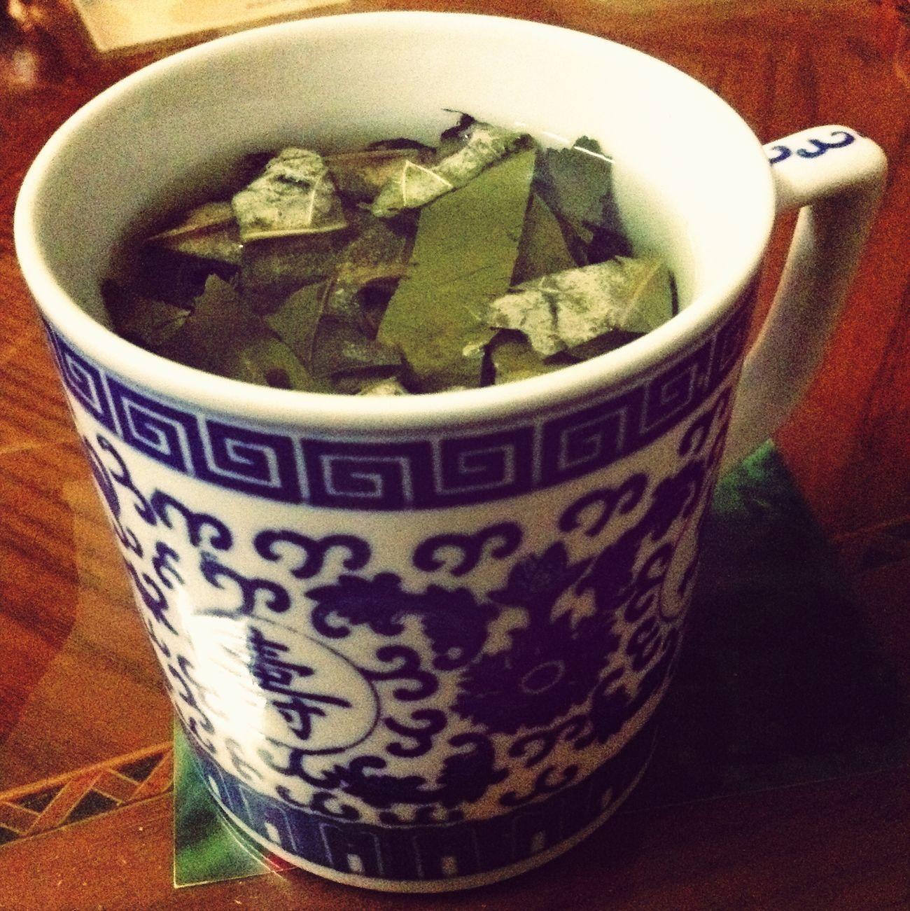 晚饭后一杯暖暖的荷叶茶~
