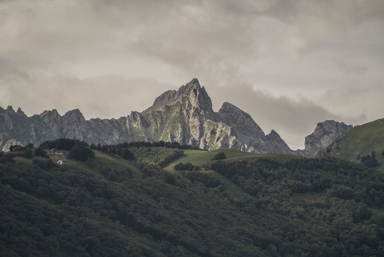 mountain, nature, sky, beauty in nature, landscape, cloud - sky, mountain range, no people, physical geography, scenics, day, outdoors