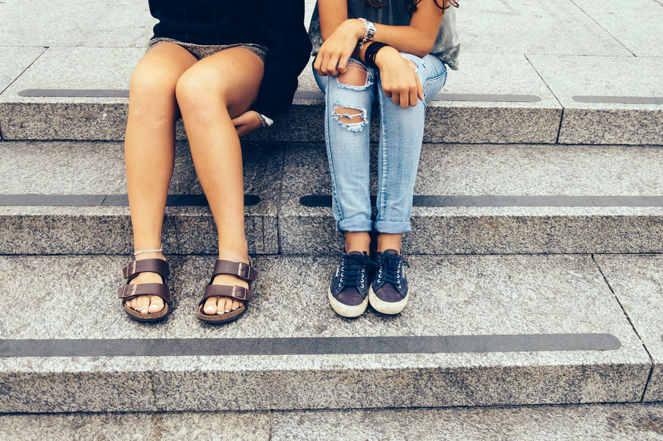 Beautiful stock photos of friends, 14-15 Years, 16-17 Years, Casual Clothing, City