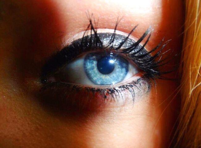 Aqua Human Eye Eyelash Close-up Eyeball Iris - Eye