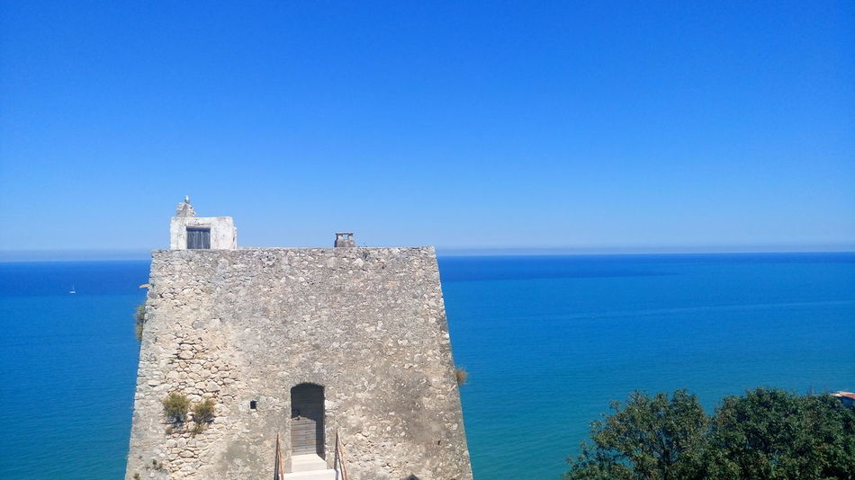 Castle South Italy Blue Sky Spetacular