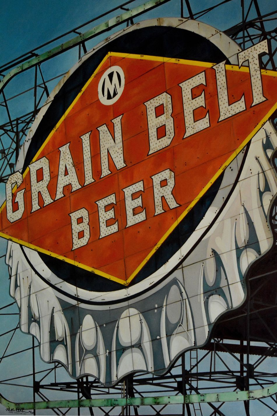 Grain Belt Beer Grain Belt Beer Sign Signage Minneapolis DowntownMPLS Iconic Urban Urban Landscape Urban Icon Old Historic Painting Likeness Sam Kratzer