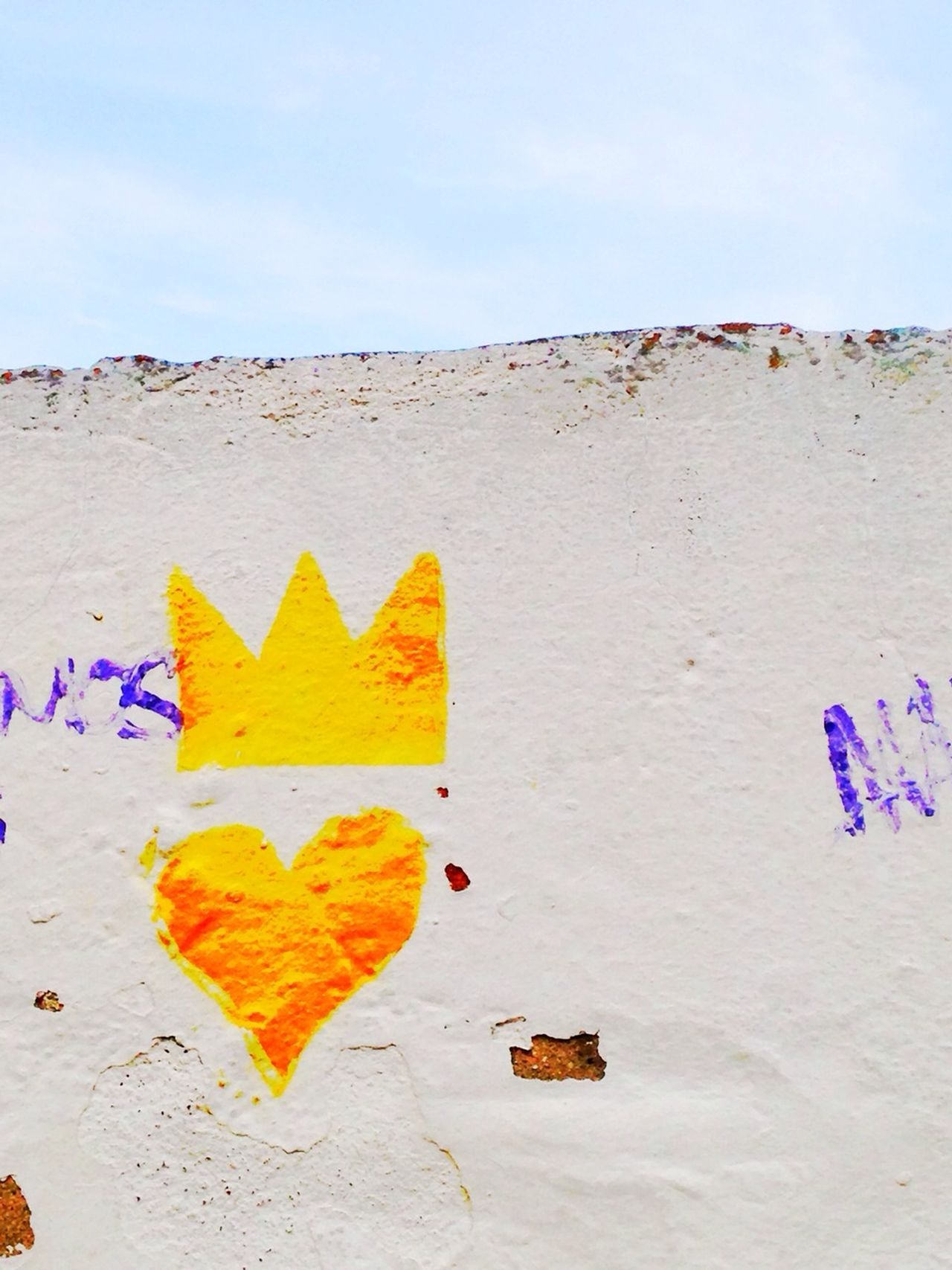 Heart Crown Lisbon Streetart Street Photography Yellow Happycolour Wallart Streetphotography Streets