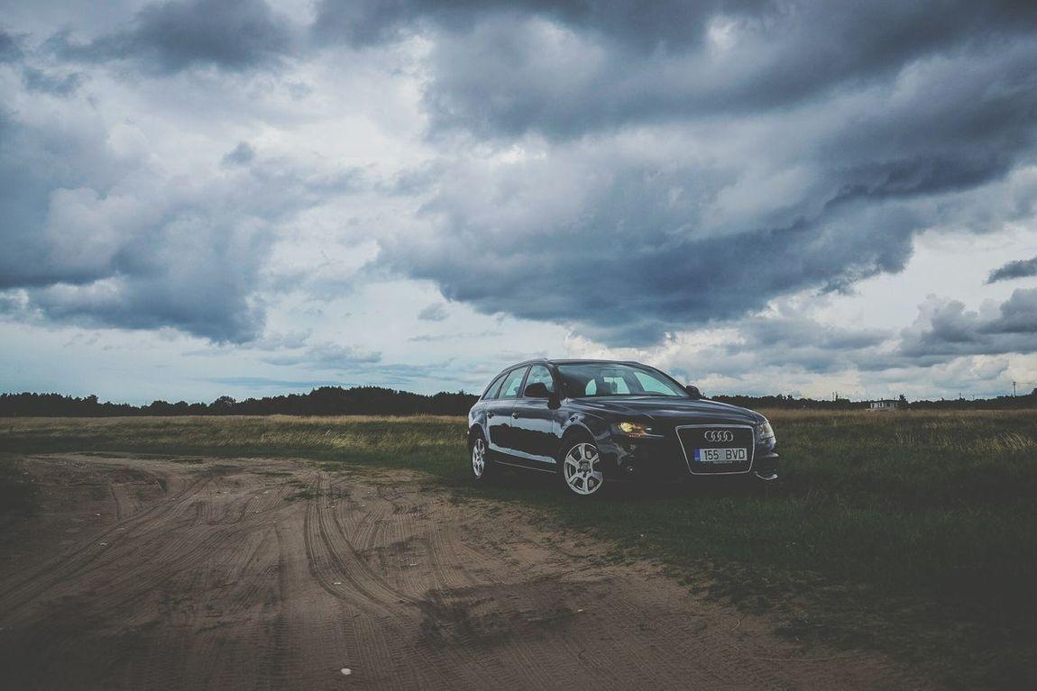 Car Storm Cloud Cloud - Sky Power In Nature Landscape Driving Photography Audi A4 Avant Photographer