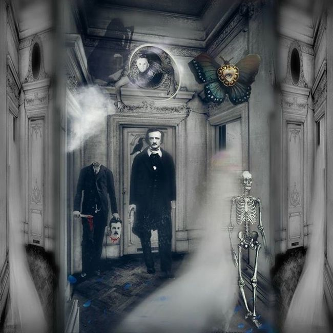 Digitalart  Artvisuals Photocomposite Photoart Conceptart Digitalartwork Loves_edits Masters_of_darkness Friendsofshadowandlight Poe Edgarallanpoe Victorian Death Spirits Ghosts Collage Digitalcollage
