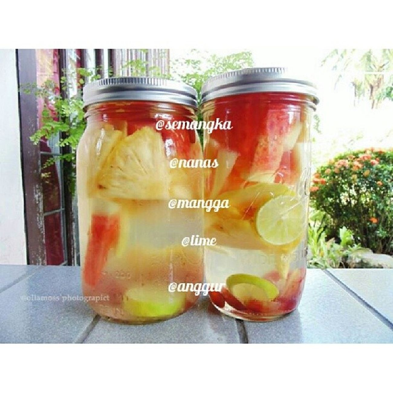 Photo : Infusedwater of the day ! .. Semangka Nanas Mangga Lime Anggur .. The Best combination .. .. Feel Free for tagging and mention me in ur infused water ^_^