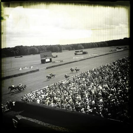 Horserace Fancy Time Black&white Old Fashioned