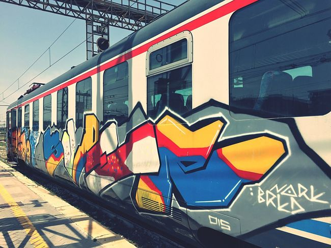 Train UrbanART Urban Scenery Murales Fast Train Colors Red Station Urban Landscape Urban Photography Photographer Inspired Street Art Train Art  Traveling Love This Picture. Capture Canon600D Travel Photography Travelphotography