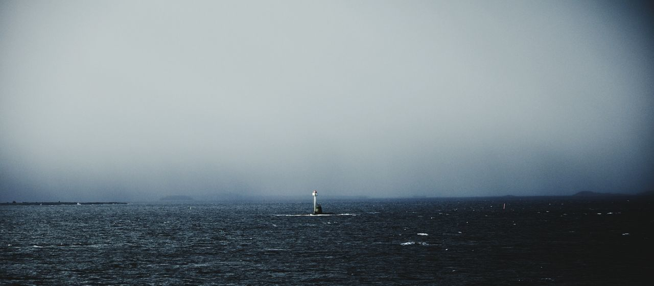 View Of Lighthouse In Sea