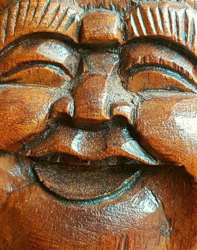 The face of a laughing buddha, Buddha Laughing Buddha Happy BuddhaBig Belly Buddha Big Belly Buddha Head Buddha Face Buddha Image Buddha Face Happy Smiling Boeddha Wooden Art Wooden Buddha Handmade Handmade Buddha Craftsmanship  Handcrafted Handcraft