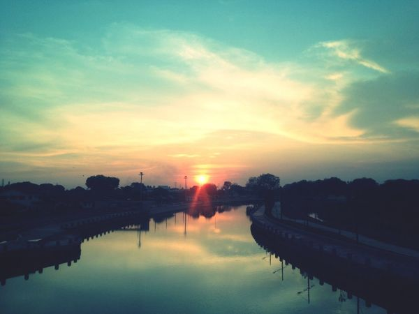Sun Set Malaysia Melaka bye melaka'