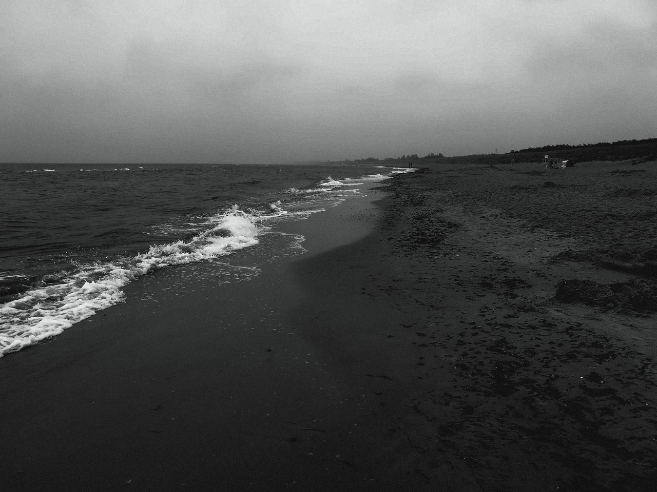 film noir. Beach Beauty In Nature Day Horizon Over Water Nature No People Outdoors Sand Scenics Sea Sky Tranquility Water Wave