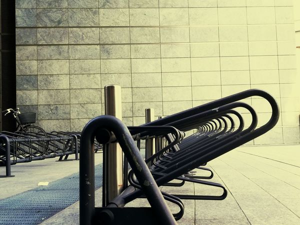 Architecture No People Built Structure Day Outdoors Close-up Bikeracks Bike Riding Bikeparking Bikepark Cityscape Citylife Architecture In Town Repetition The Architect - 2017 EyeEm Awards