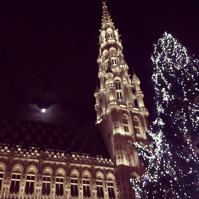 Holidays time rocks! BRU2015 Brussels Bruxelles Grandplace Magic Night Christmastree NYE NewYear 2015  Christmas Latergram