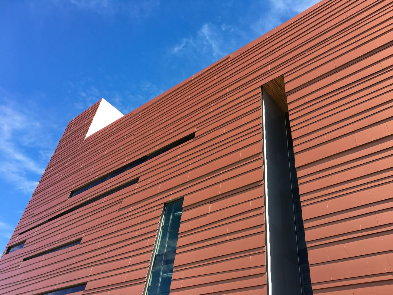 Flagstaff has few examples of modern architecture, but here's one from the Northern Arizona University campus. iPhone photo. Architecture Architecture Blue Sky Building Exterior Built Structure Day Low Angle View Modern No People Outdoors Sky Minimalist Architecture The City Light