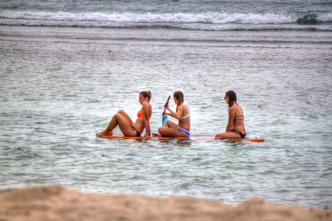 Beach Bonding Friendship Leisure Activity Lifestyles Nature Outdoors Pigeonpointbeach Sea Tobagoisland Togetherness Tourism Destination Vacations