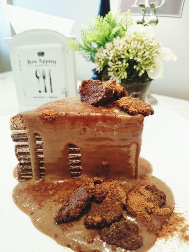 Chocolate♡ Bon Appetit Crape Cake Chocolate Cake Chocolate Lava Cake  It's Tea Time... Eating Out