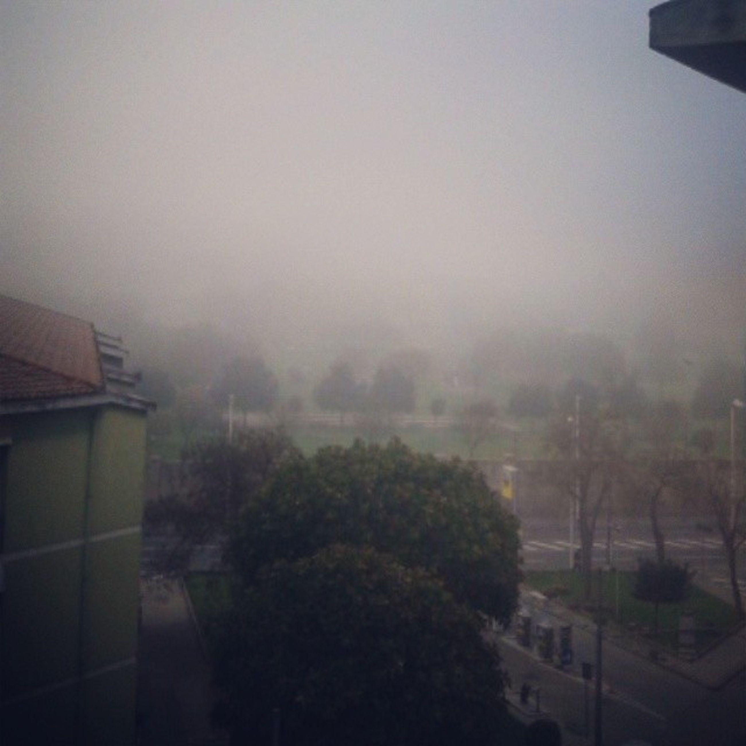 Morning Cagliari Terrace Balcone fog nebbia